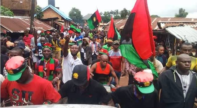 IPOB:  Protesting women release, strikes out case